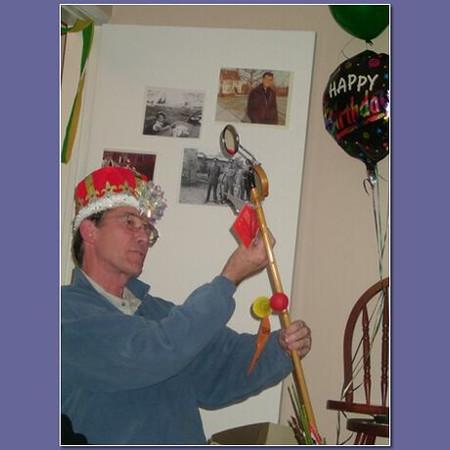 2004 January 24 Piet's 60th B-day - Piet's new cane 02.jpg