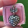 Victorian Revival Heart and Bird Rose Cut Diamond Pendant 3