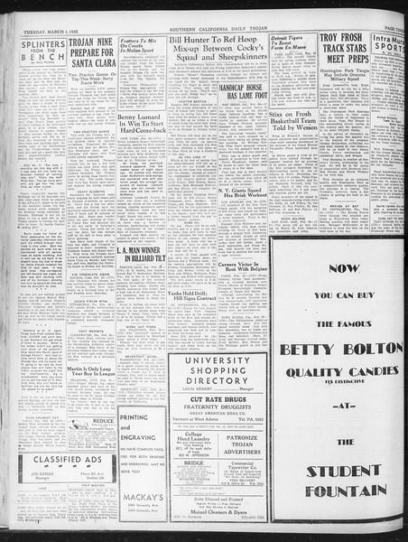 Daily Trojan, Vol. 23, No. 98, March 01, 1932