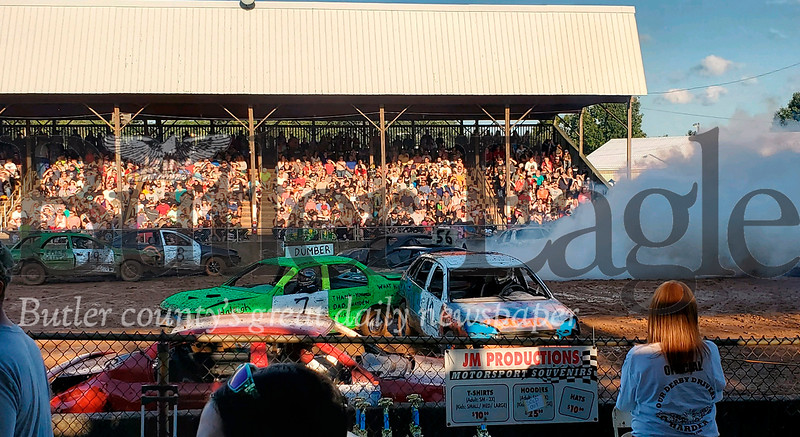 Demolition Derby at the Butler Farm Show 2019