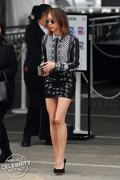 Aubrey Plaza Shows Off Her Legs in Versace And Bumps Into Craig Robinson!