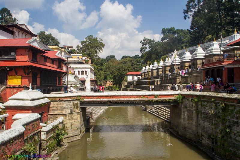 Hindu Temples at Pashupatinath, in Kathmandu, Nepal