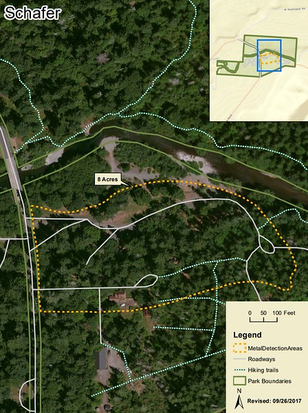 Schafer State Park (Metal Detection Areas)