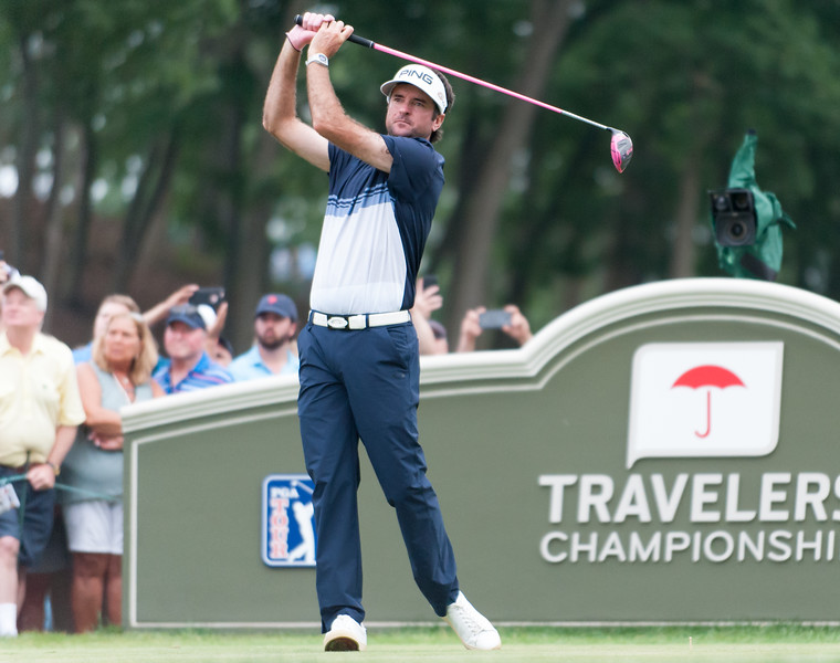 06/24/18  Wesley Bunnell | Staff  The final day of The Travelers Championship at TPC River Highlands in Cromwell on Sunday June 24. Tournament Champion Bubba Watson with his tee shot on the 18th tee would go on to win with a -17.