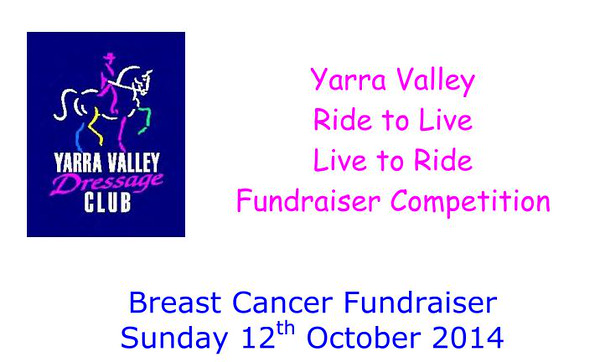Yarra Valley Dressage Club - Cancer Fund Raiser