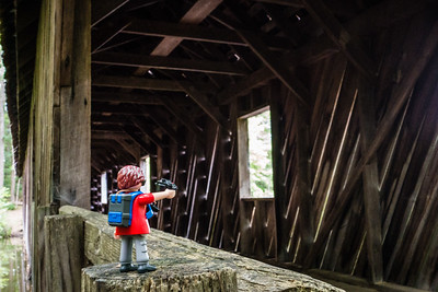 Playmobil Photographer Walking Around the World