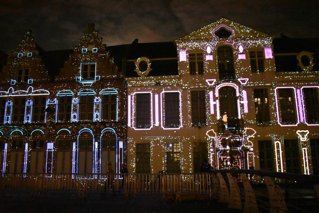 Ghent Light Festival art installation Keys of Light by Dutch artist Mr Beam