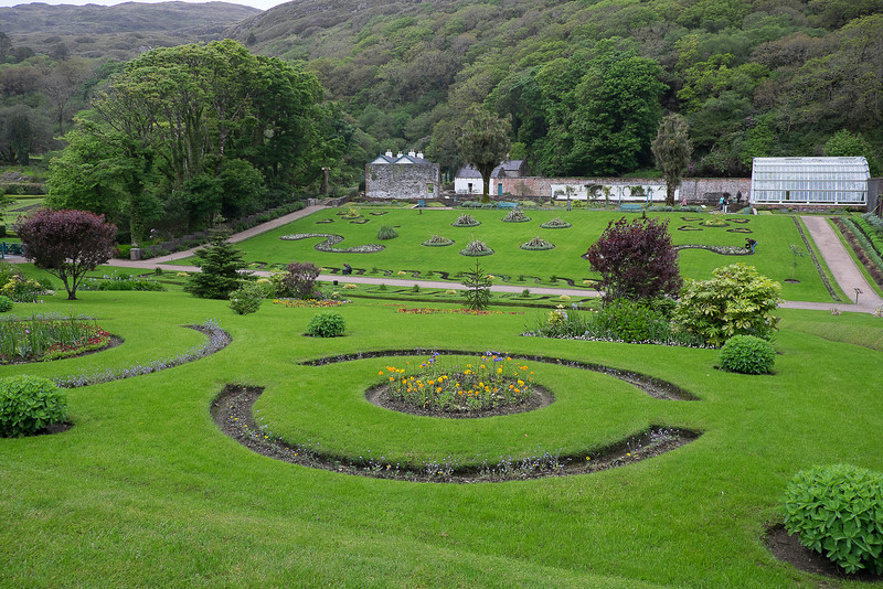 The walled garden at Kylemore Abbey.
