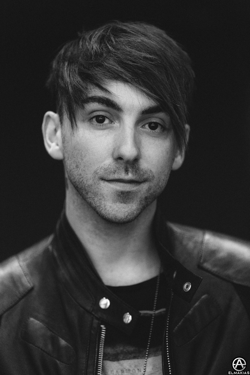 Portrait of Alex Gaskarth of All Time Low by Adam Elmakias
