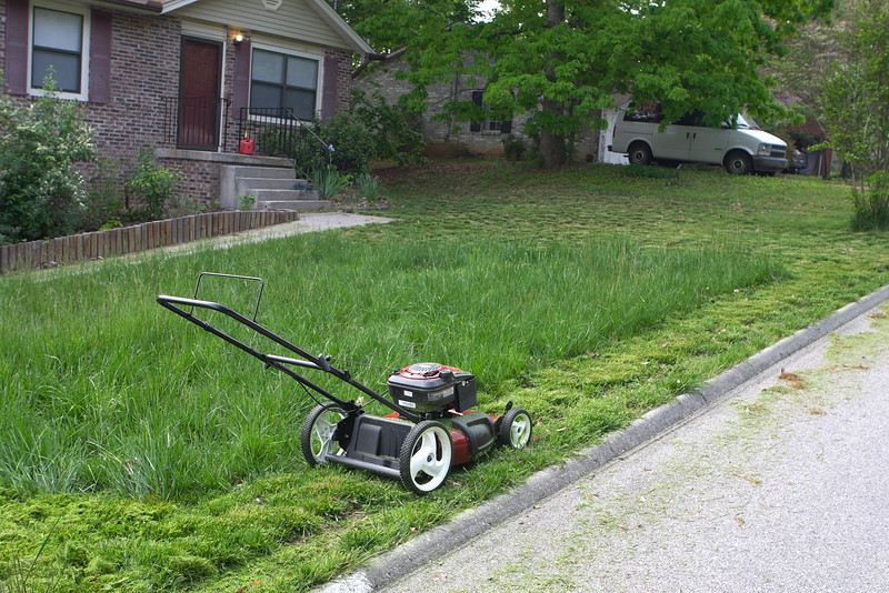 Unfortunately, I picked the wrong time to look for a cheap lawnmower at a pawn shop, so I ended up having to buy a shiny new one