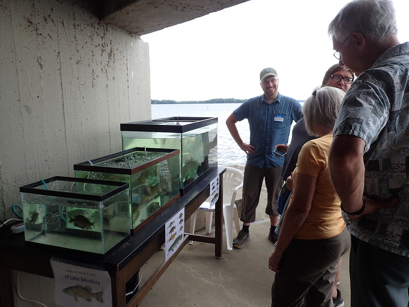 John Rodstrom at Lake Mendota fish tanks