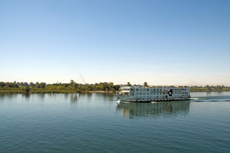 Cruise Boat trudging the Nile River - Nile, Egypt