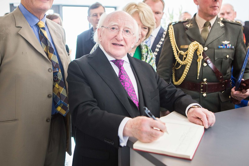 President Michael D Higgins at the official opening of the Independence Museum in Kilmurry, Co Cork by Kilmurry Historical & Archaeological Association with Heritage Works. Pic Darragh Kane