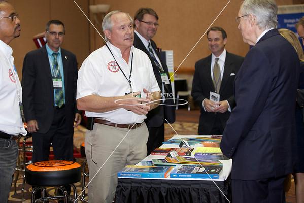 Senator Reid with Exhibitors