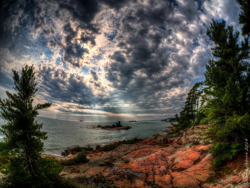 Georgian Bay (Lake Huron) near Killarney, Ontario, Canada