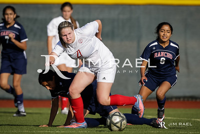 JV Women's Soccer vs. Rancho Cotate 2016