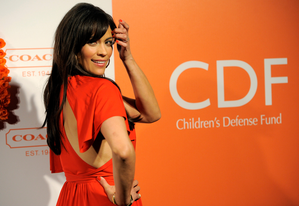 . Actress Paula Patton poses at the 3rd Annual Coach Evening to Benefit Children\'s Defense Fun at Bad Robot on Wednesday, April 10, 2013 in Santa Monica, Calif. (Photo by Chris Pizzello/Invision/AP)