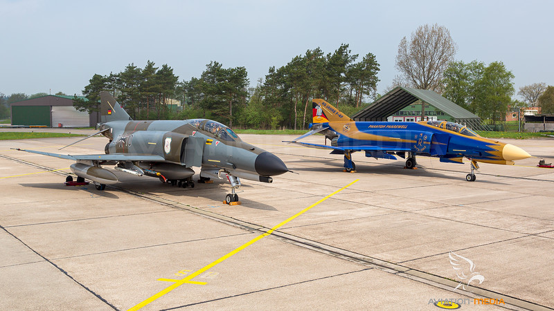 Germany - Air Force / McDonnell Douglas F-4F Phantom II / 38+10 and 37+01