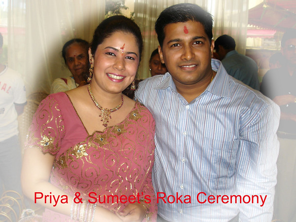 Priya Seth & Sumit Dargad's Roka Ceremony Jun'07