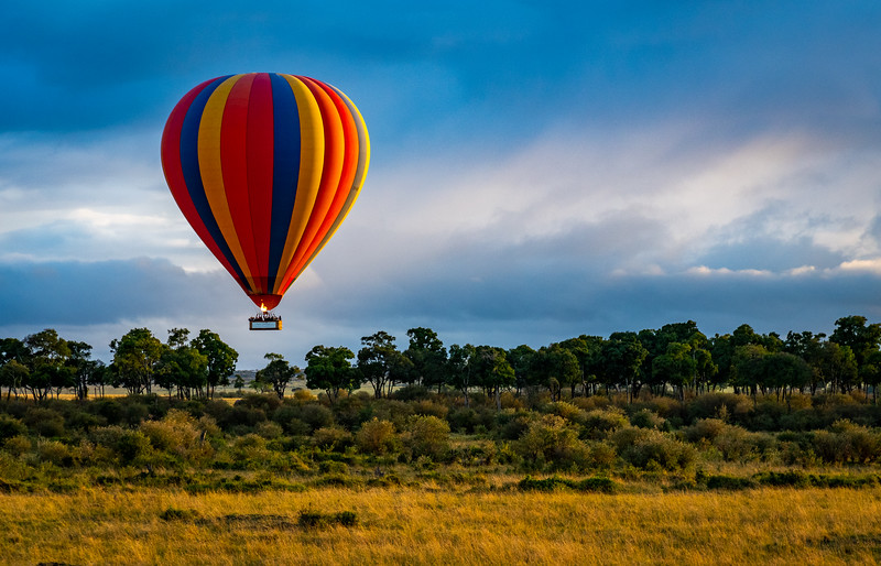 Hot Air Ballon  over Masai Mara, Kenya