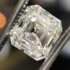 2.89ct Antique   Asscher Cut Diamond GIA I VS2 3