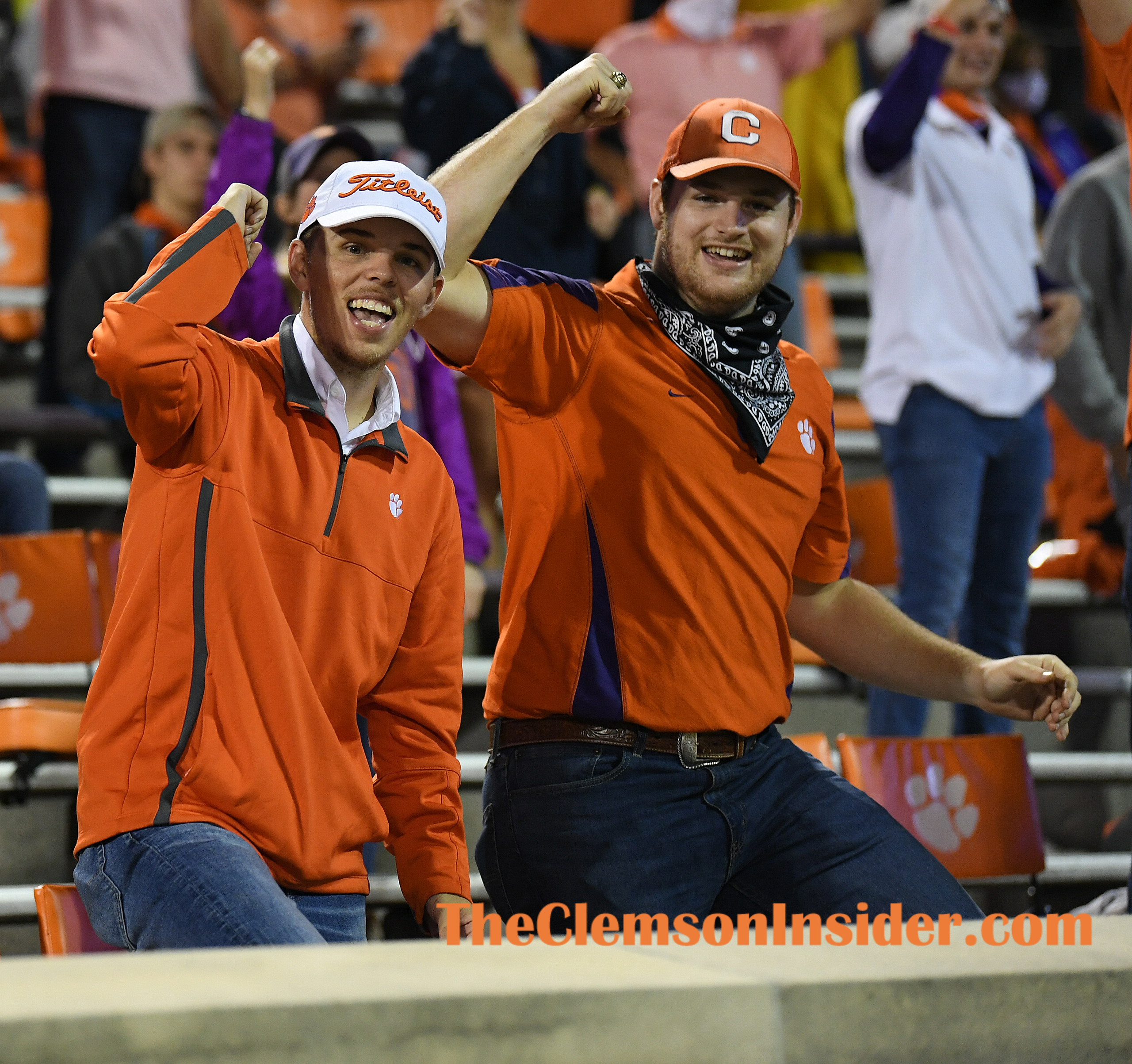 Clemson fans during the 2nd quarter of Clemson's game against the University of Miami at Clemson's Memorial Stadium Saturday, October 10, 2020. Bart Boatwright/The Clemson Insider