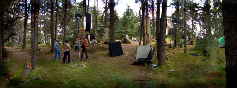 "Camping scene for ""Halfway Home"""