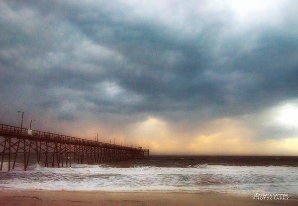 Yaupon Beach Fishing Pier - Stormy Morning - Oak Island, NC