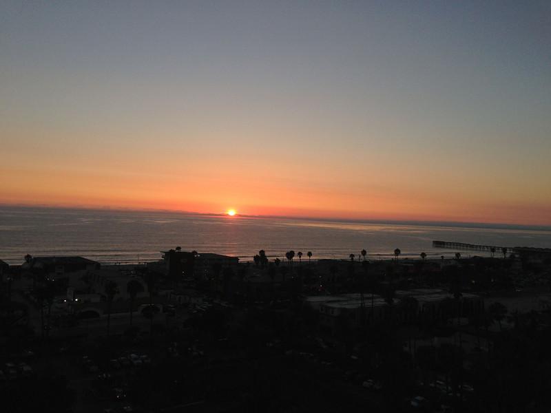 Sunset the last night