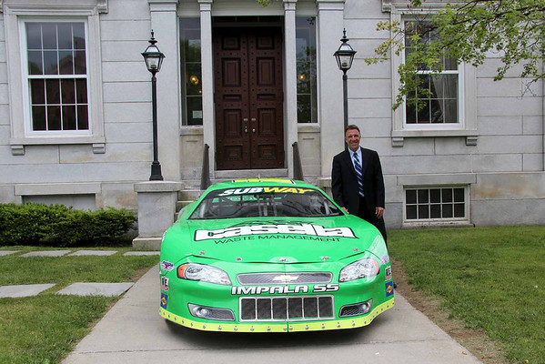 Phil Scott and Racecar at Vermont Statehouse