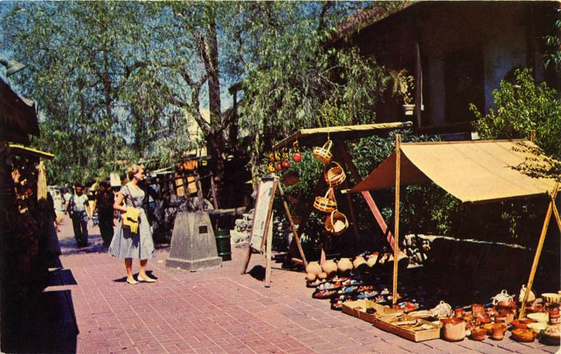 Woman Shopping on Olvera Street