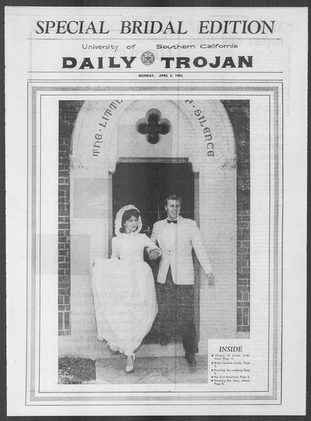 Daily Trojan, Vol. 53, No. 101, April 02, 1962