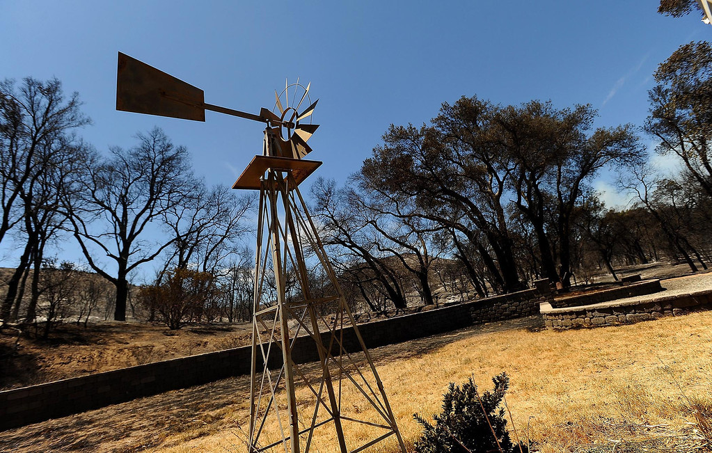 . A view of the Goble residence which survived the Silver Fire along Twin Pines Road in the mountains south of Banning August 8, 2013.  GABRIEL LUIS ACOSTA/STAFF PHOTOGRAPHER.