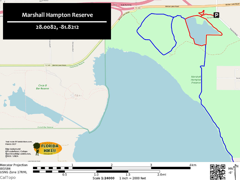 Marshall Hampton Reserve Trail Map