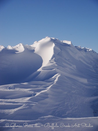 not mountains just BIG snowbanks in our drive
