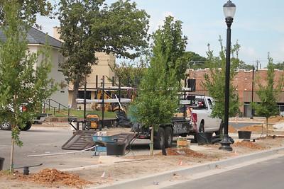 Center Streetscape construction scenes