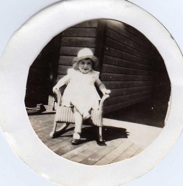 """Little Lady"" enjoying her rocking chair"