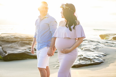 Maternity Baby Bump Photography at Windansea Beach in La Jolla San Diego - low tide maternity beach photography - V&G August 2019