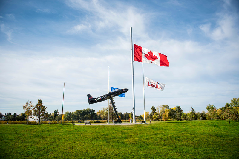 Fred Johns Park - Airplane and Flag