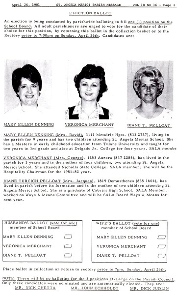 1981 Bulletin Photos