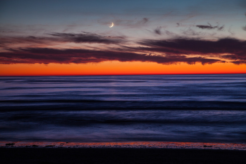 Sunset over the Pacific from Torrey Pines State Beach