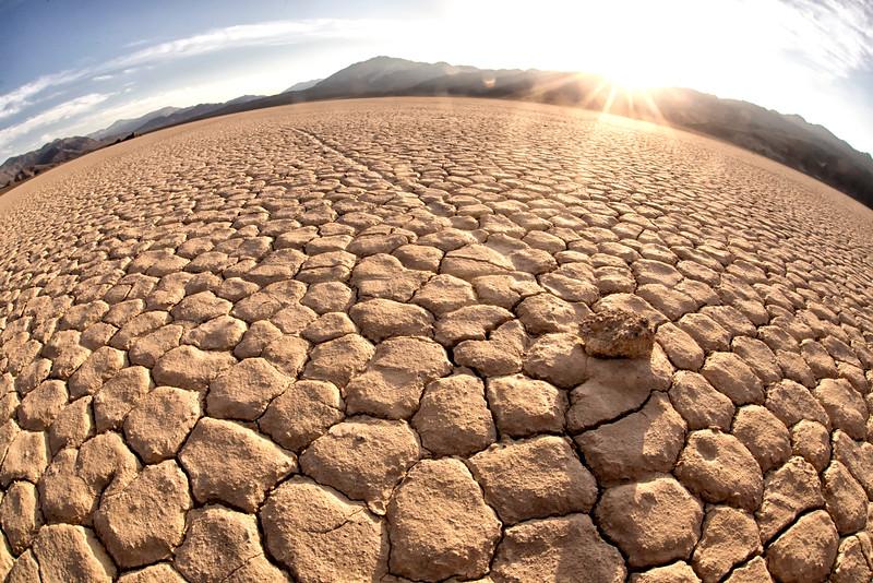 Migrating stones - Death Valley