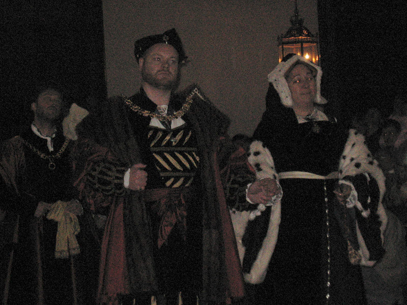 Actor's portraying Henry VIII and Catherine of Aragon recreate a visit by the King and his court to Hampton Court in 1526.