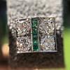 Art Deco Diamond and Emerald Disc Earrings 25