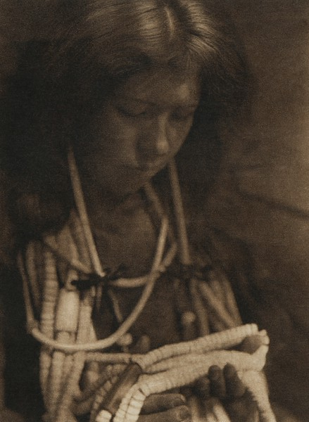 A Pomo girl (The North American Indian, v. XIV. Norwood, MA, The Plimpton Press, 1924)