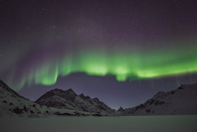 Aurora Borealis at Tuno, East Greenland