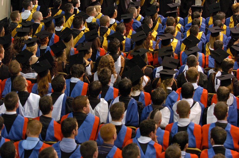 Provision 251006 Section of graduates at WIT graduation ceremonies yesterday, Wednesday 25th October, 2006.  PIC Bernie Keating/Provision