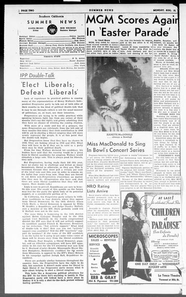 Summer News, Vol. 3, No. 22, August 16, 1948
