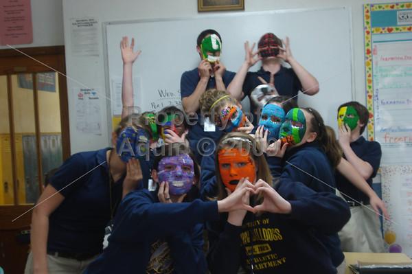8th grade mask making . 5.11