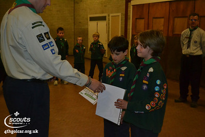 October - Silver Awards and Investitures